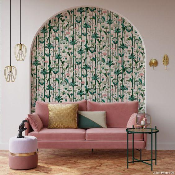canape-salon-papier-peint-vegetal-motif