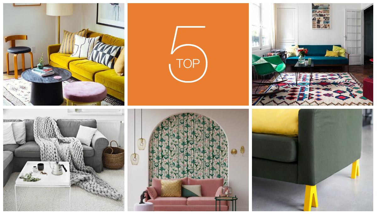 Zoom sur 5 idées pas chères pour relooker un vieux canapé
